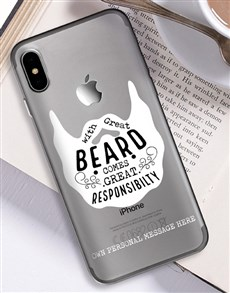 gifts: Personalised Beard iPhone Cover!