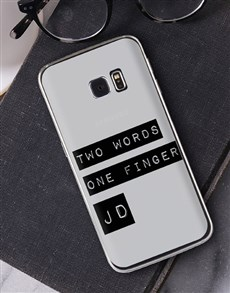 gifts: Personalised Two Words Samsung Cover!