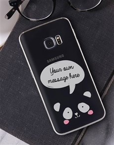 gifts: Personalised Panda Samsung Cover!