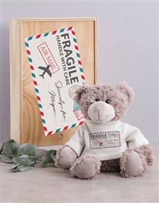 gifts: Personalised Mail Teddy in Box!