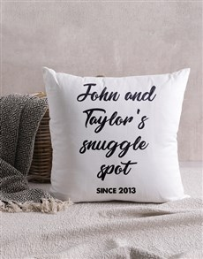 gifts: Personalised Snuggle Spot Scatter Cushion!