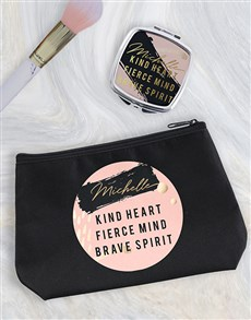 gifts: Personalised Kind Heart Cosmetic Bag!