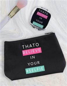 gifts: Personalised Selfie Cosmetic Bag!