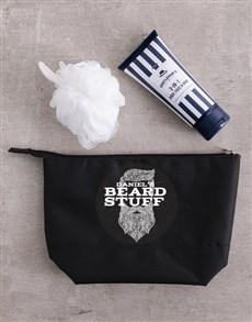 gifts: Personalised Gents Beard Stuff Wash Bag!