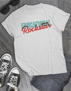 gifts: Educational Rockstar Shirt for Men!