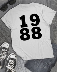 gifts: Personalised 1988 Shirt for Men!