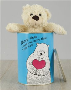 gifts: Personalised Love You Teddy Tin!