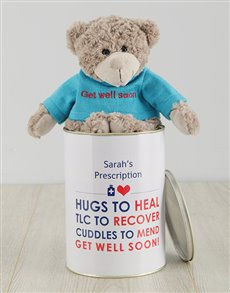 gifts: Personalised Get Well Soon Heal Teddy Tin!