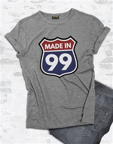 gifts: Personalised Made in 99 Shirt for Men!