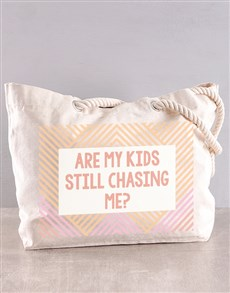 gifts: Personalised Chasing Me Beach Bag!