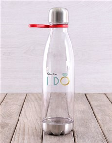 gifts: Personalised I Do Water Bottle!