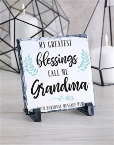 gifts: Personalised Grandma Glass And Stone Tiles!