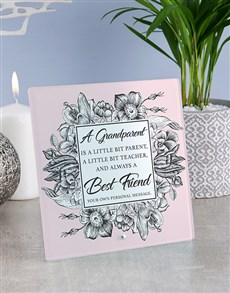 gifts: Personalised Grandparent Glass And Stone Tiles!