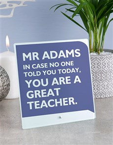 gifts: Personalised Teacher Glass And Stone Tiles!