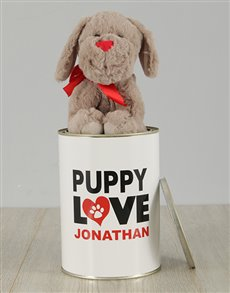 gifts: Personalised Puppy Love Tin!