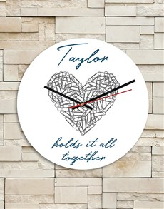 gifts: Personalised Heart MDF Clock!