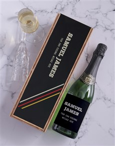 gifts: Retro Personalised Wine and Crate!