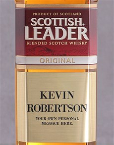 gifts: Personalised Plaque Scottish Leader!