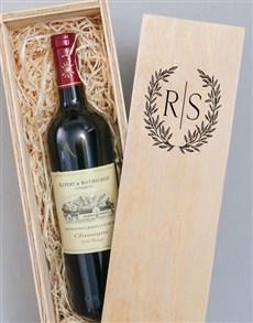 gifts: Personalised Laurel Printed Wine Crate!