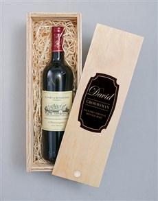 gifts: Personalised Vintage Printed Wine Crate!