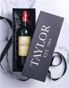 gifts: Personalised Red Wine Printed Giftbox!