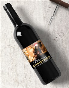 gifts: Personalised Christmas Photo Wine!