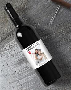 gifts: Personalised Amazing Year Photo Wine!