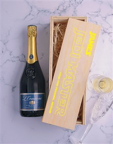 gifts: Personalised Jedi Master Printed Wine Crate!