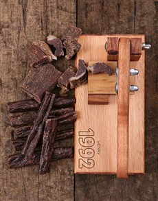 gifts: Personalised Established Biltong Cutter!