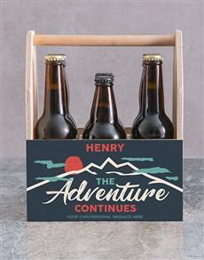 gifts: Personalised Adventure Printed Beer Crate!