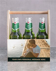 gifts: Personalised Photo Printed Beer Caddy!
