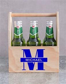 gifts: Personalised Initial Printed Beer Crate!