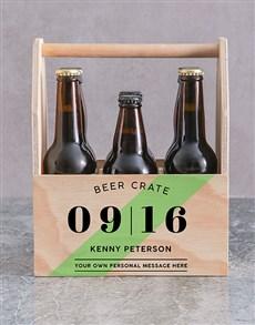 gifts: Personalised Printed Beer Crate!