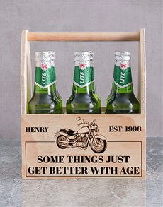 gifts: Personalised Harley Printed Beer Crate!