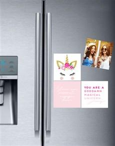 gifts: Personalised Unicorn Fridge Magnets!
