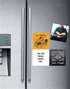 gifts: Personalised Champion Fridge Magnets!