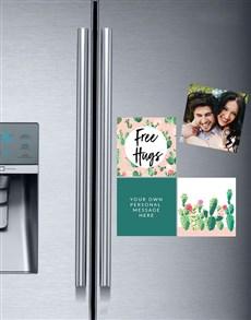 gifts: Personalised Free Hugs Fridge Magnets!