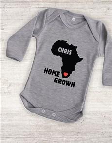 gifts: Personalised Home Grown Onesie!