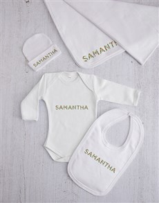 gifts: Personalised Floral Font Clothing Gift Set!