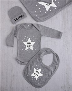 gifts: Personalised Stars Clothing Gift Set!