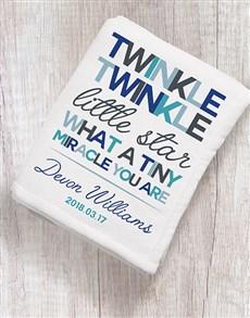 gifts: Personalised Twinkle Twinkle Boy Fleece Blanket!