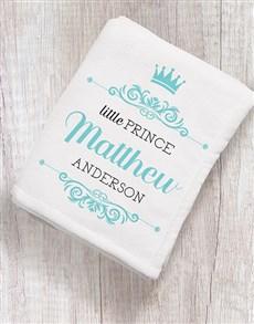 gifts: Personalised Little Prince Fleece Blanket!