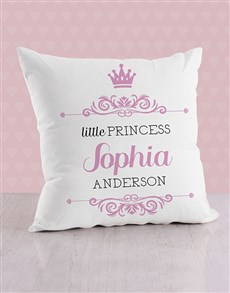 gifts: Personalised Twirly Princess Baby Scatter Cushion!