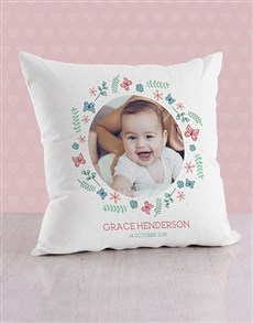 gifts: Personalised Butterflies and and Sprigs Cushion!