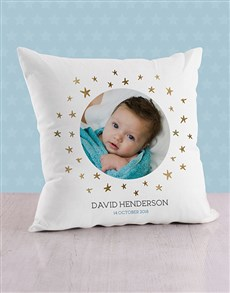 gifts: Personalised Stars and Portrait Scatter Cushion!