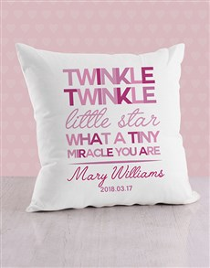 gifts: Personalised Twinkle Twinkle Baby Scatter Cushion!