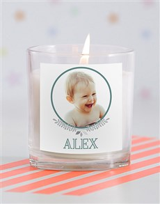 gifts: Personalised Baby Photo Candle in Gift Box!