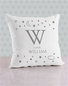 gifts: Personalised Moon and Stars Baby Scatter Cushion!