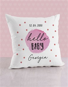 gifts: Personalised Purple Dots Baby Scatter Cushion!