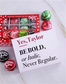 gifts: Personalised Bold Italic Regular Sweetie Pies!
